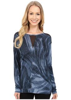 Calvin Klein Jeans Long Sleeve Printed Voyeur Top