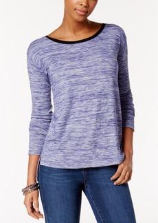 Calvin Klein Jeans Marled High-Low-Hem Top
