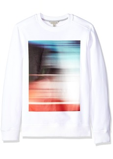 Calvin Klein Jeans Men's Athletic Collage Heat Transfer Crew Neck Sweatshirt