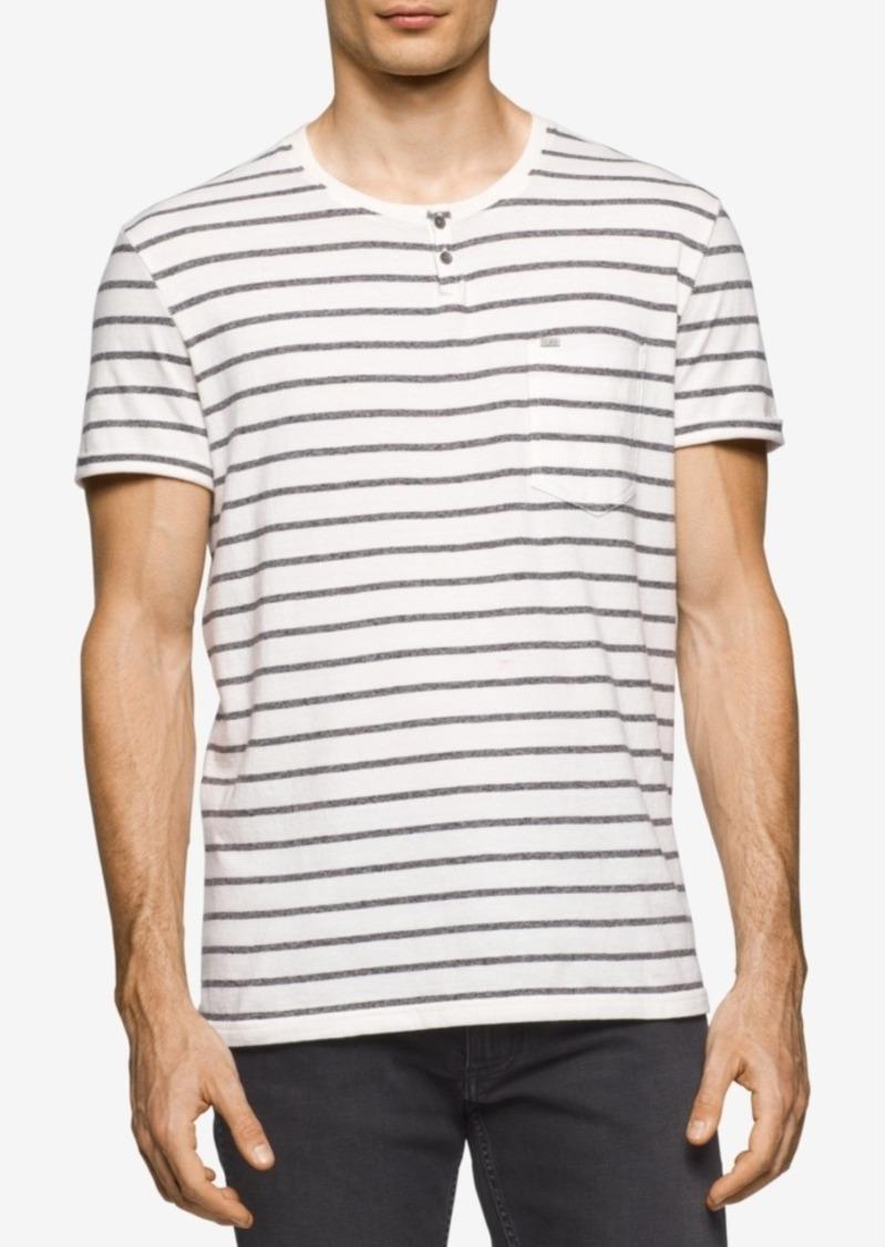 e39284f9a51e SALE! Calvin Klein Calvin Klein Jeans Men's Bar Stripe Cotton Split ...