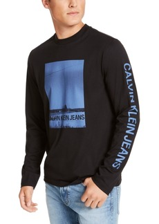 Calvin Klein Jeans Men's Barn Print Long Sleeve T-Shirt