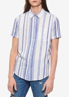 Calvin Klein Jeans Men's Beach Striped Shirt