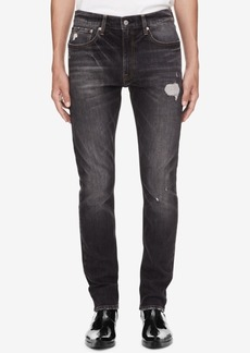 Calvin Klein Jeans Men's Black Athletic Tapered Jeans Ckj 056