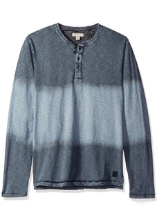 Calvin Klein Jeans Men's Bleach Wash Long Sleeve Henley Shirt