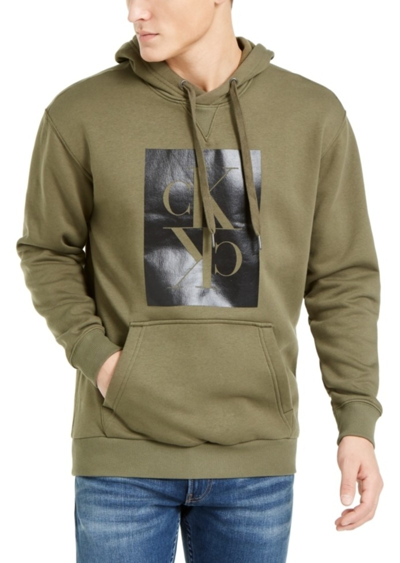 Calvin Klein Jeans Men's Boxy-Fit Mirror Logo Hoodie