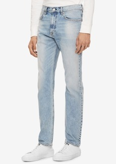 Calvin Klein Jeans Men's Cabana Blue Straight Fit Jeans Ck 035