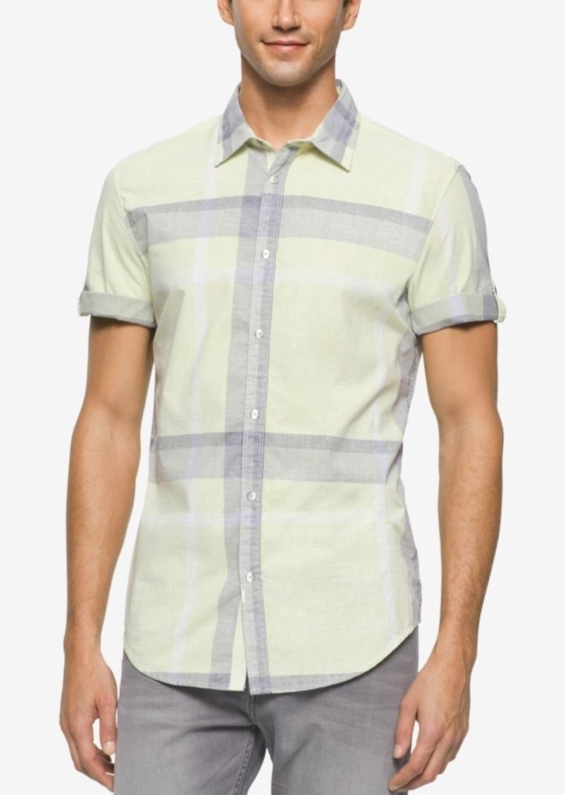 Calvin Klein Jeans Men's Chalky Print Plaid Shirt