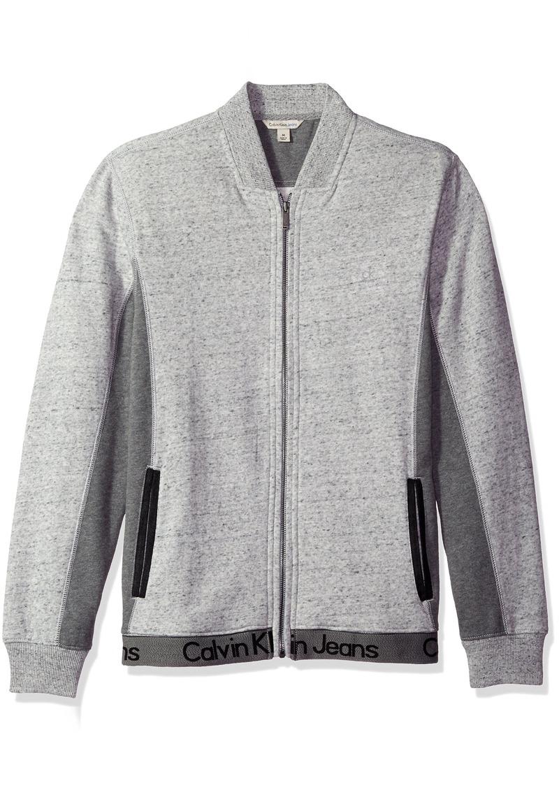 Calvin Klein Jeans Men's Ckj Logo Full Zip Sweatshirt  X-LARGE
