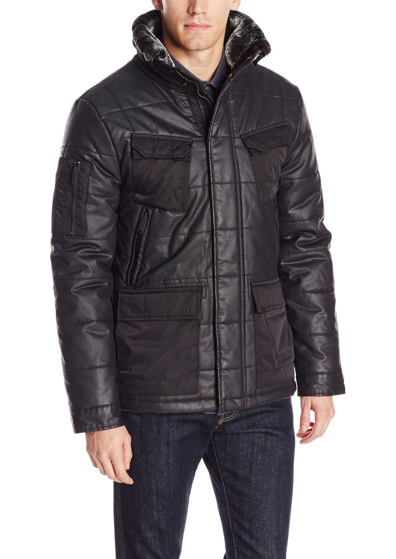Calvin Klein Jeans Men's Coated Puffer Jacket