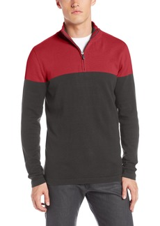 Calvin Klein Jeans Men's Colorblocked High Collar Sweater
