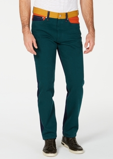 Calvin Klein Jeans Men's Colorblocked Straight Fit Jeans
