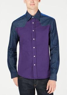 Calvin Klein Jeans Men's Colorblocked Western Shirt