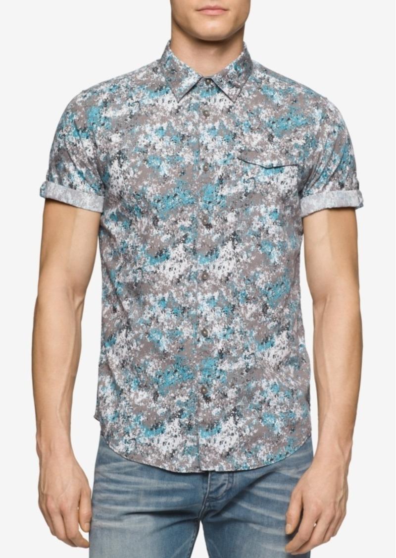Calvin Klein Jeans Men's Confetti Camo-Print Short-Sleeve Shirt