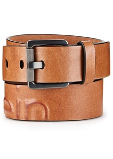 Calvin Klein Jeans Men's Debossed Leather Belt