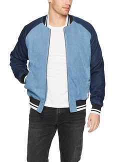 Calvin Klein Jeans Men's Denim Baseball Logo Bomber Jacket