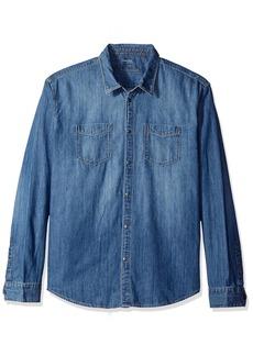 Calvin Klein Jeans Men's Denim Button Down Shirt  LARGE