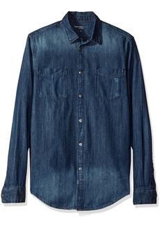 Calvin Klein Jeans Men's Denim Button Down Shirt  X-LARGE