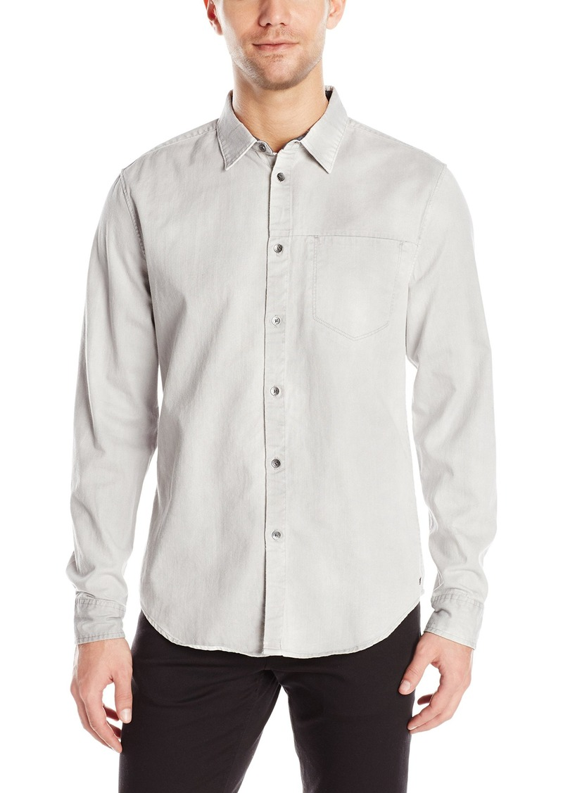 calvin klein mens denim shirt