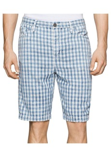 Calvin Klein Jeans Men's Double Cloth Plaid Short