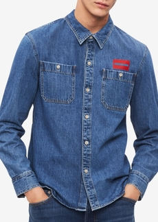 Calvin Klein Jeans Men's Dual-Pocket Denim Shirt