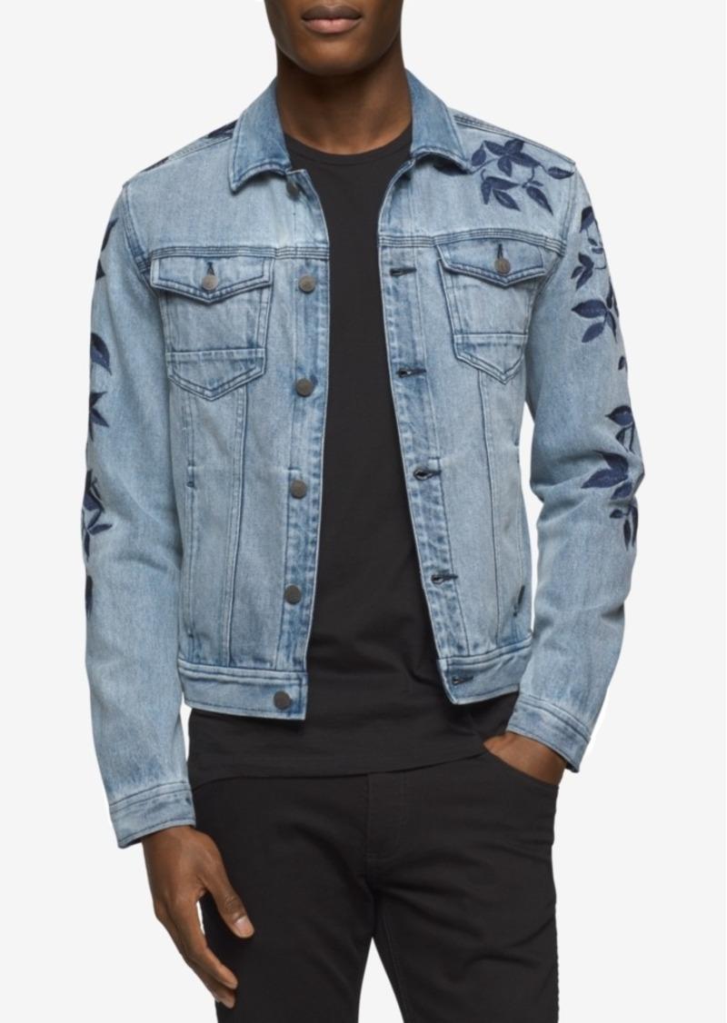 6a9dcac0531 Calvin Klein Calvin Klein Jeans Men s Embroidered Leaves Denim ...