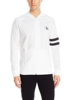 Calvin Klein Jeans Men's Full Zip Retro Track Jacket  LARGE