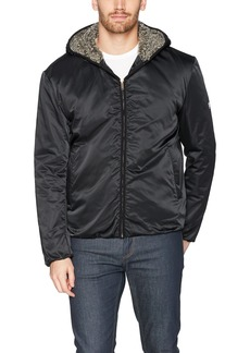 Calvin Klein Jeans Men's Full Zip Sherpa Hoodie Jacket  2X-Large