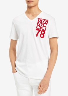 Calvin Klein Jeans Men's Graphic Print V-Neck T-Shirt, Created for Macy's