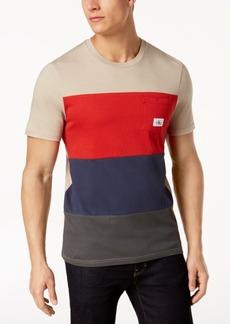 Calvin Klein Jeans Men's Herringbone Colorblocked Chest Pocket T-Shirt