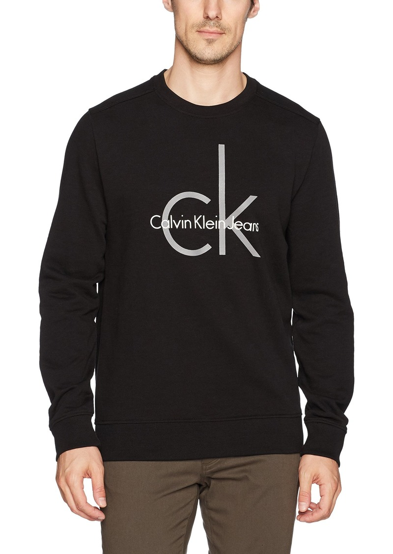 Calvin Klein Jeans Men's Institutional Logo Crew Neck Sweatshirt