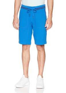 Calvin Klein Jeans Men's Knit Shorts with Tonal Rib Tipping  L