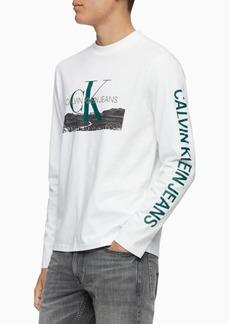 Calvin Klein Jeans Men's Landscape Print Logo Graphic Shirt