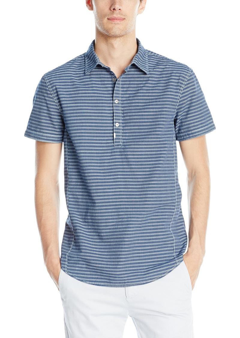 Calvin Klein Jeans Men's Linear Stripe Short Sleeve Popover  2X-Large