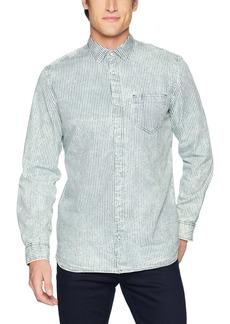 Calvin Klein Jeans Men's Long Sleeve Button Down Shirt Dobby Stripe  XL