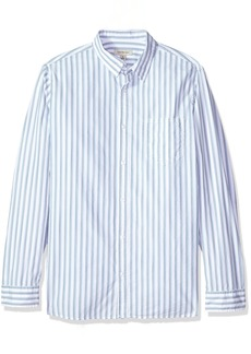 Calvin Klein Jeans Men's Long Sleeve Button Down Shirt Vertical Space Dye Stripe  L