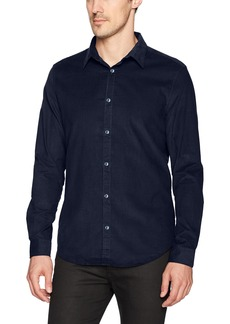 Calvin Klein Jeans Men's Long Sleeve Corduroy Button Down Shirt