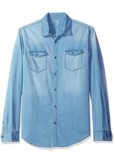 Calvin Klein Jeans Men's Long Sleeve Denim Shirt  X-LARGE