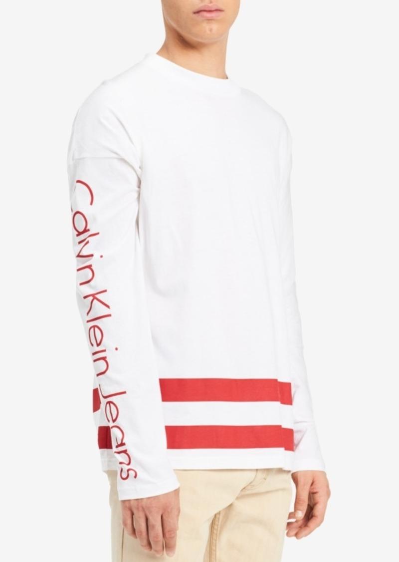 26062eb63675 SALE! Calvin Klein Calvin Klein Jeans Men s Long-Sleeve Graphic ...