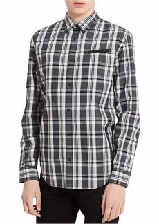 Calvin Klein Jeans Men's Long Sleeve Jaspe Plaid Button Down Shirt