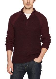 Calvin Klein Jeans Men's Long Sleeve Parallel Fisherman Colorblock 1/4 Zip Sweater  2X-Large