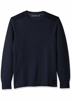 Calvin Klein Jeans Men's Long Sleeve Thermal Waffle Crew Neck Shirt