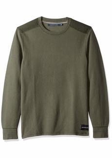 Calvin Klein Jeans Men's Long Sleeve Thermal Waffle Crew Neck Shirt