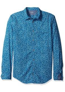 Calvin Klein Jeans Men's Long Sleeve Vine Print Button Down Shirt