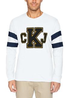 Calvin Klein Jeans Men's Long T-Shirt CKJ Logo with Sleeve Stripe  L