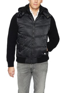 Calvin Klein Jeans Men's Mixed Media Hooded Puffer Jacket  2X-Large