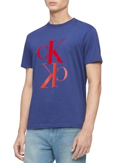 Calvin Klein Jeans Men's Monogram Reflection Logo Graphic T-Shirt