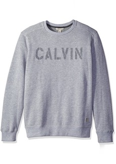 Calvin Klein Jeans Men's Needle Punch Logo Crew Neck Shirt