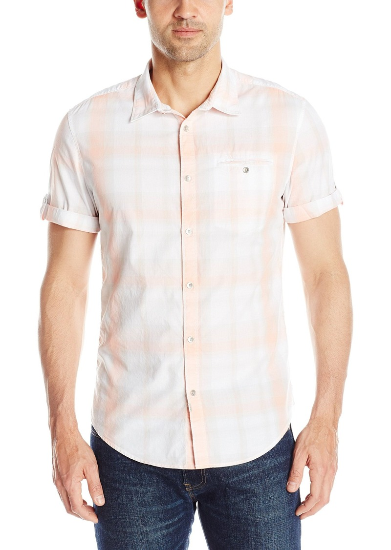 Calvin Klein Jeans Men's Open Air Plaid Short Sleeve Button Down Shirt