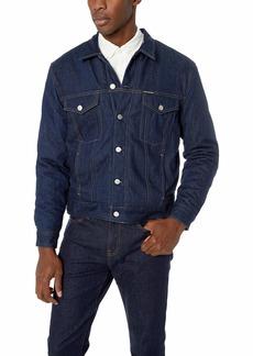 Calvin Klein Men's Denim Trucket Jacket ALECO rinse