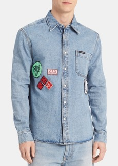 Calvin Klein Jeans Men's Patch Denim Shirt